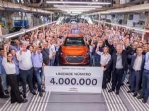 Fábrica mais produtiva da GM no mundo, Gravataí alcança 4 milhões de unidades