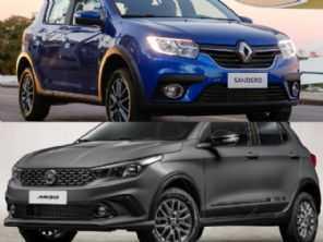 Fiat Argo Trekking manual ou um Renault Sandero automático CVT?