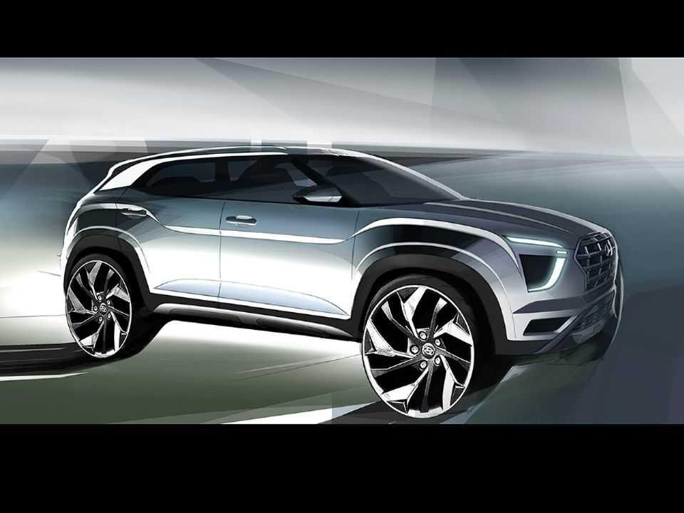 Ilustração do novo Creta: design mais futurista e masculino, nas palavras da Hyundai