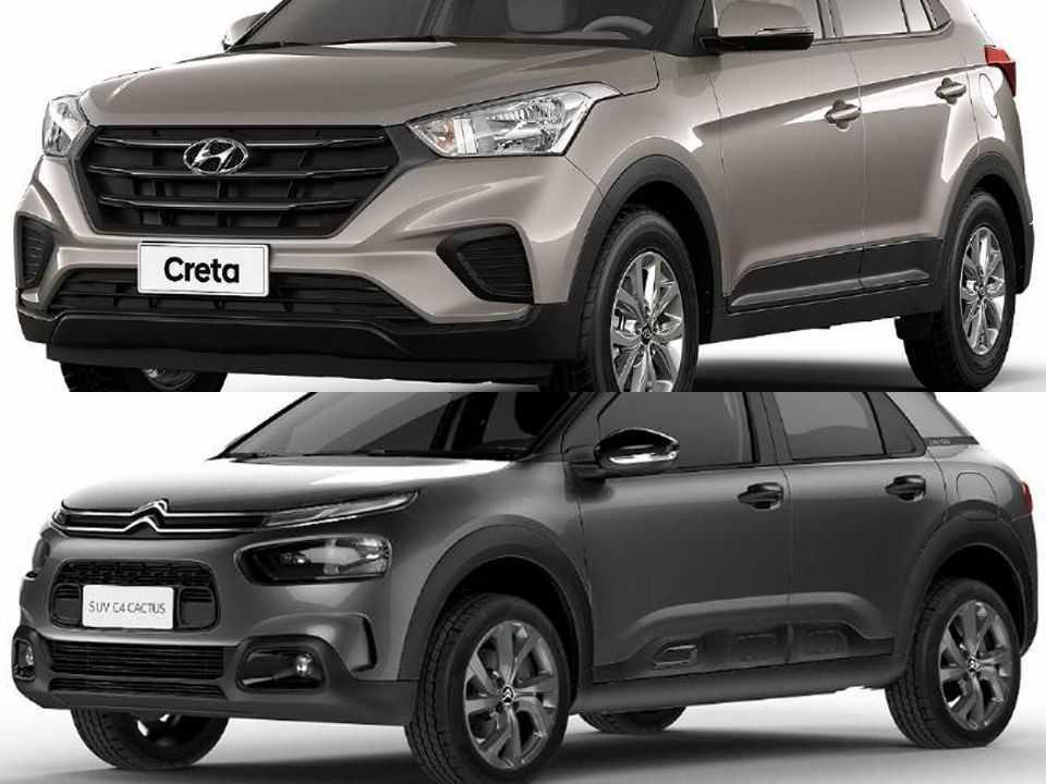 Hyundai Creta e Citroën C4 Cactus