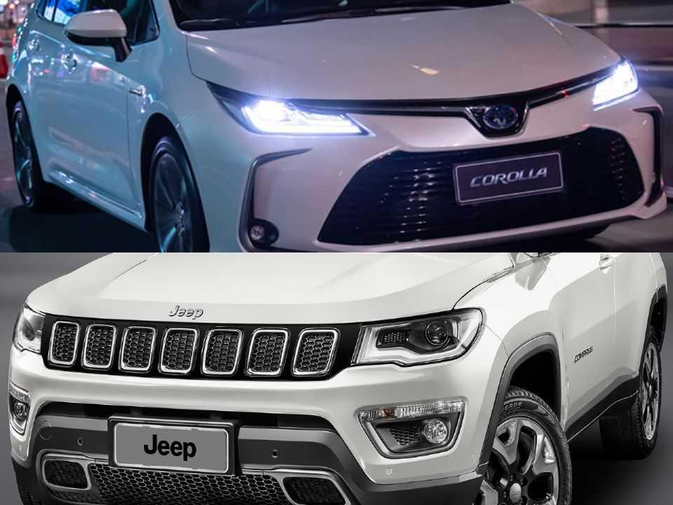 Toyota Corolla e Jeep Compass