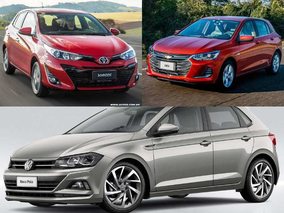 Toyota Yaris, Chevrolet Onix e Volkswagen Polo