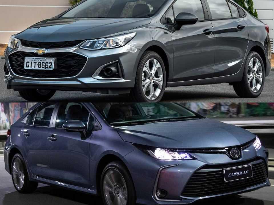 Chevrolet Cruze e Toyota Corolla