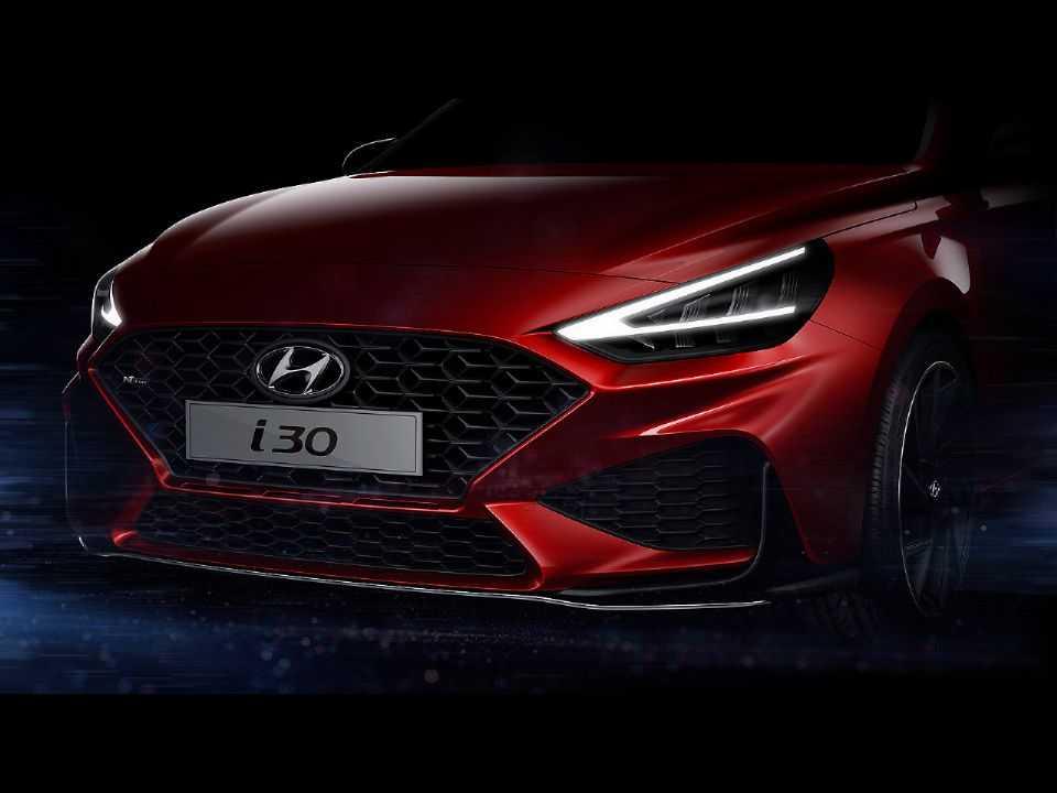 Acima o primeiro teaser da nova geração do Hyundai i30