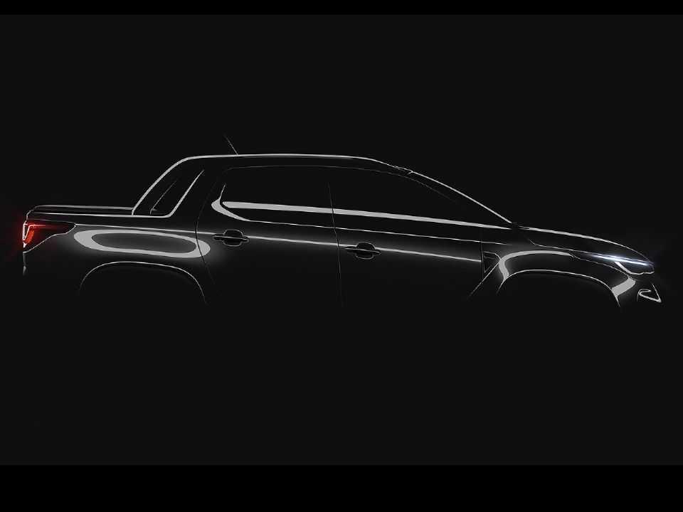 Teaser da nova Fiat Strada: traços que lembram a Toro