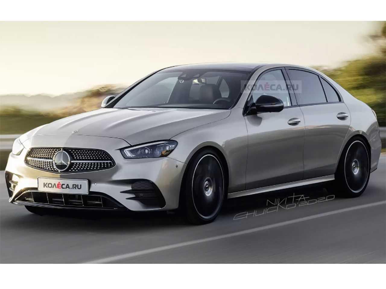 Projeção do site russo Kolesa sobre a nova geração do Mercedes-Benz Classe C
