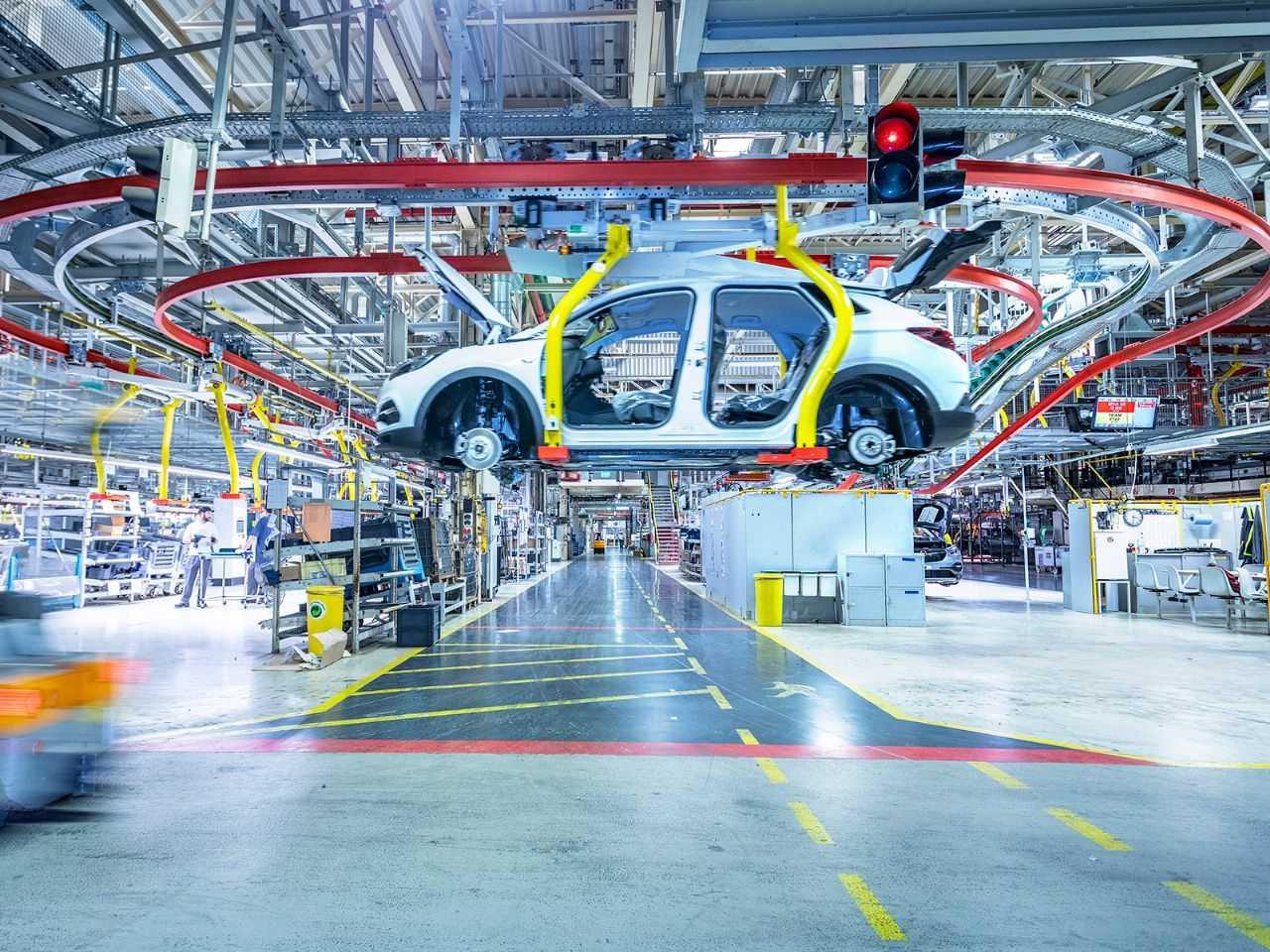 Detalhe da fábrica da Vauxhall em Eisenach, Alemanha