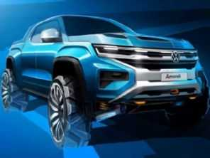 Nova geração da VW Amarok ganha teaser