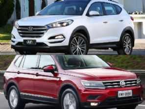 SUVs médios: Hyundai New Tucson ou VW Tiguan Allspace?