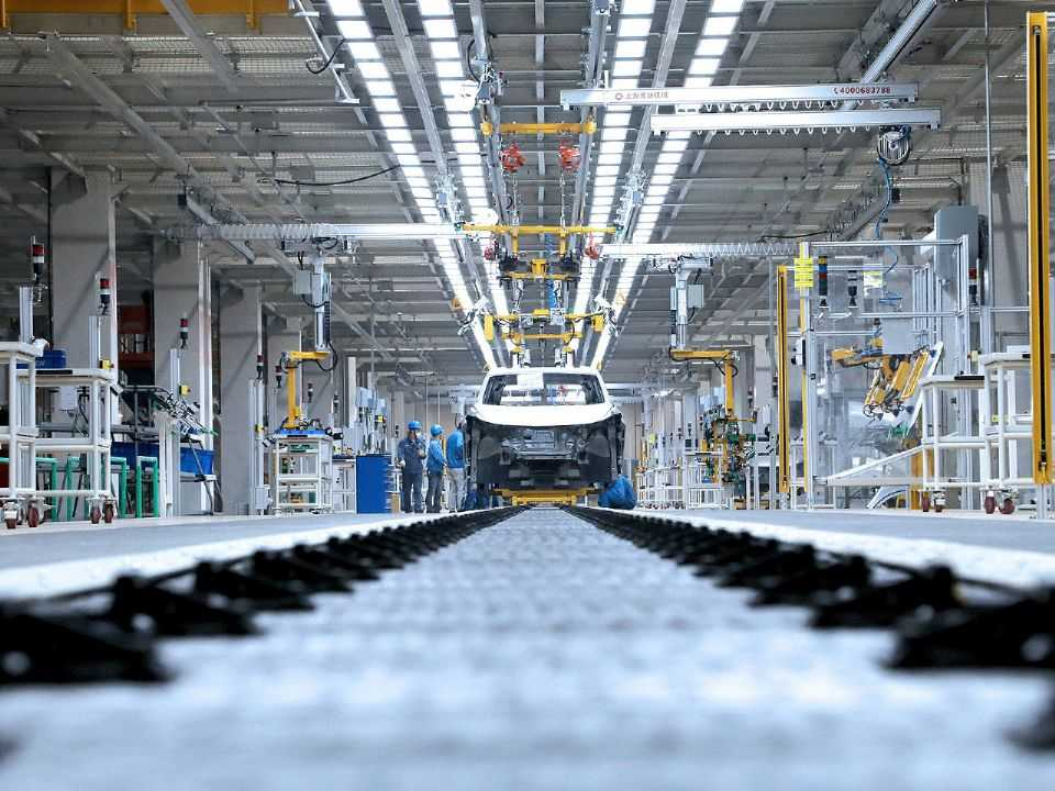 Fábrica da SAIC Volkswagen em Anting, na China
