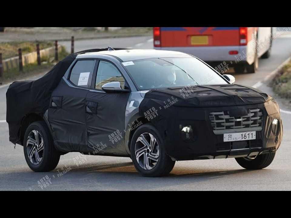 Futura picape compacta-média da Hyundai em testes avançados