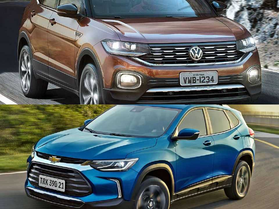 Volkswagen T-Cross e Chevrolet Tracker