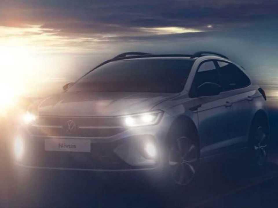 Primeira imagem oficial antecipando o design do VW Nivus