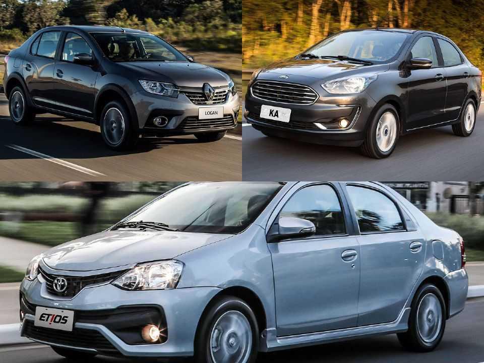 Renault Logan, Ford Ka Sedan e Toyota Etios Sedã