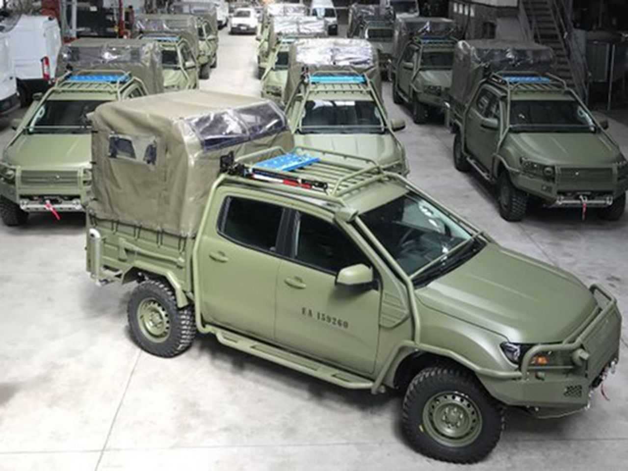Acima a Ford Ranger adaptada para uso do exército argentino
