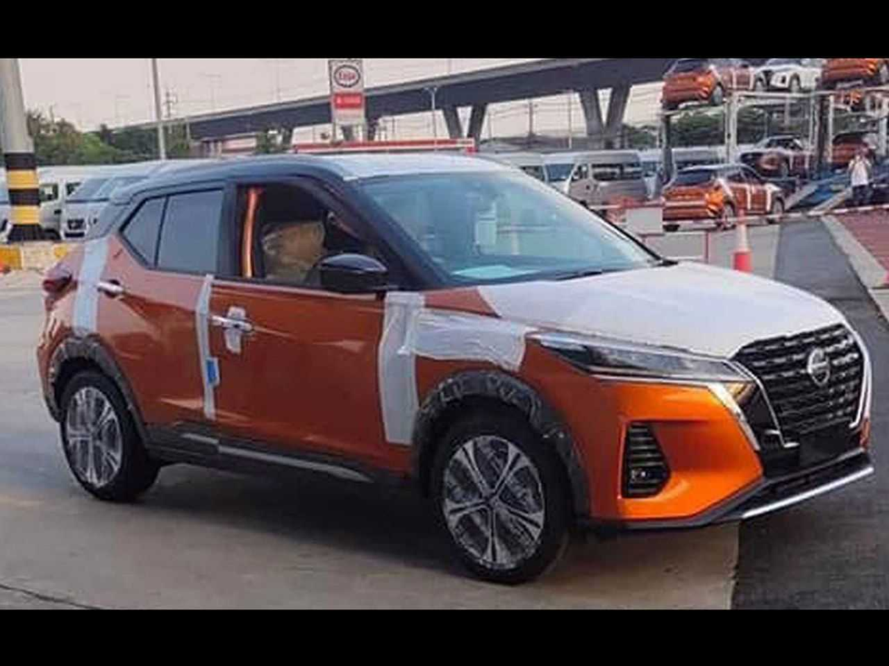 Facelift do Nissan Kicks flagrado na Tailândia