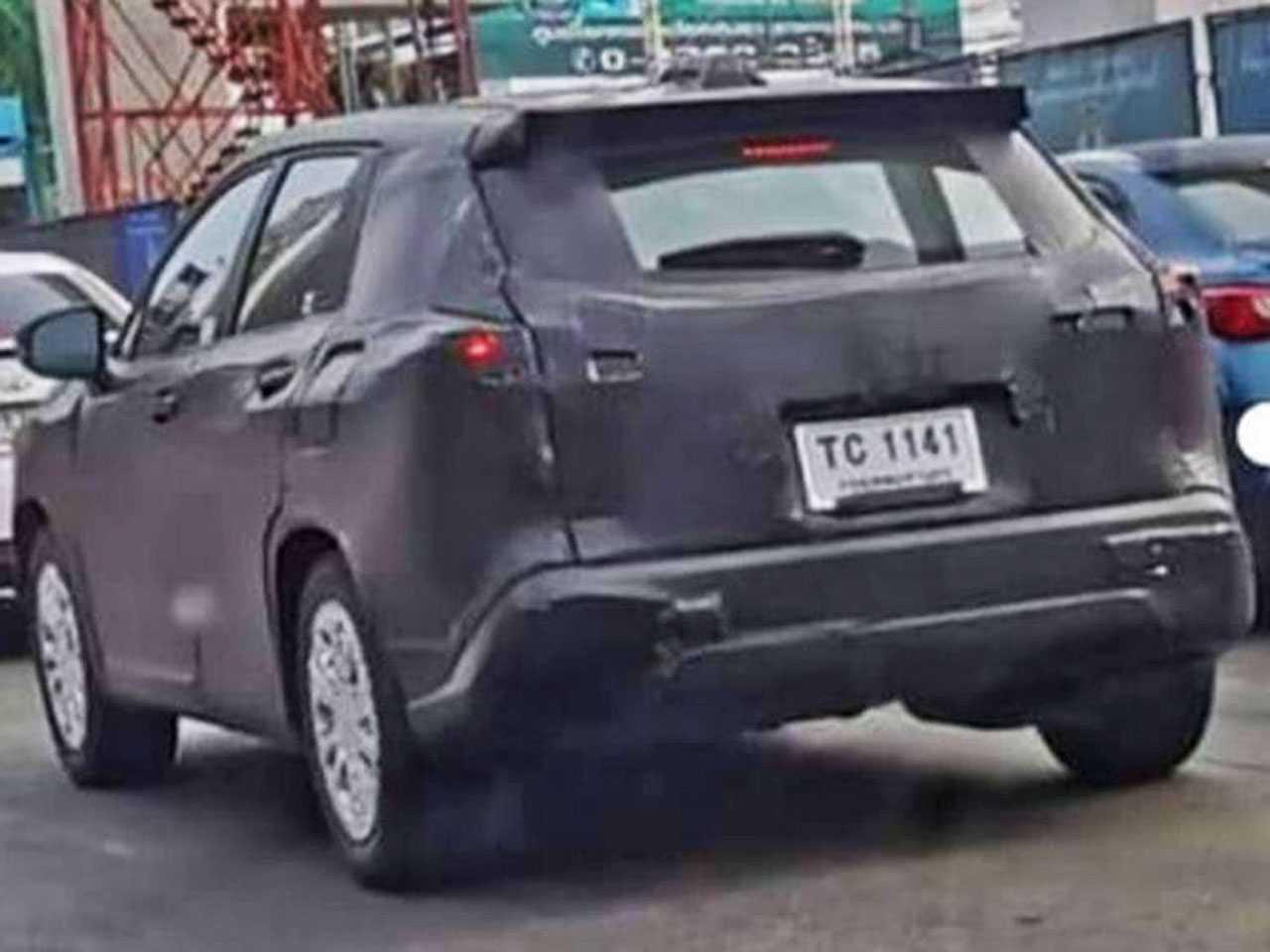 O protótipo do SUV Corolla Cross é visto na Tailândia: produção no Brasil