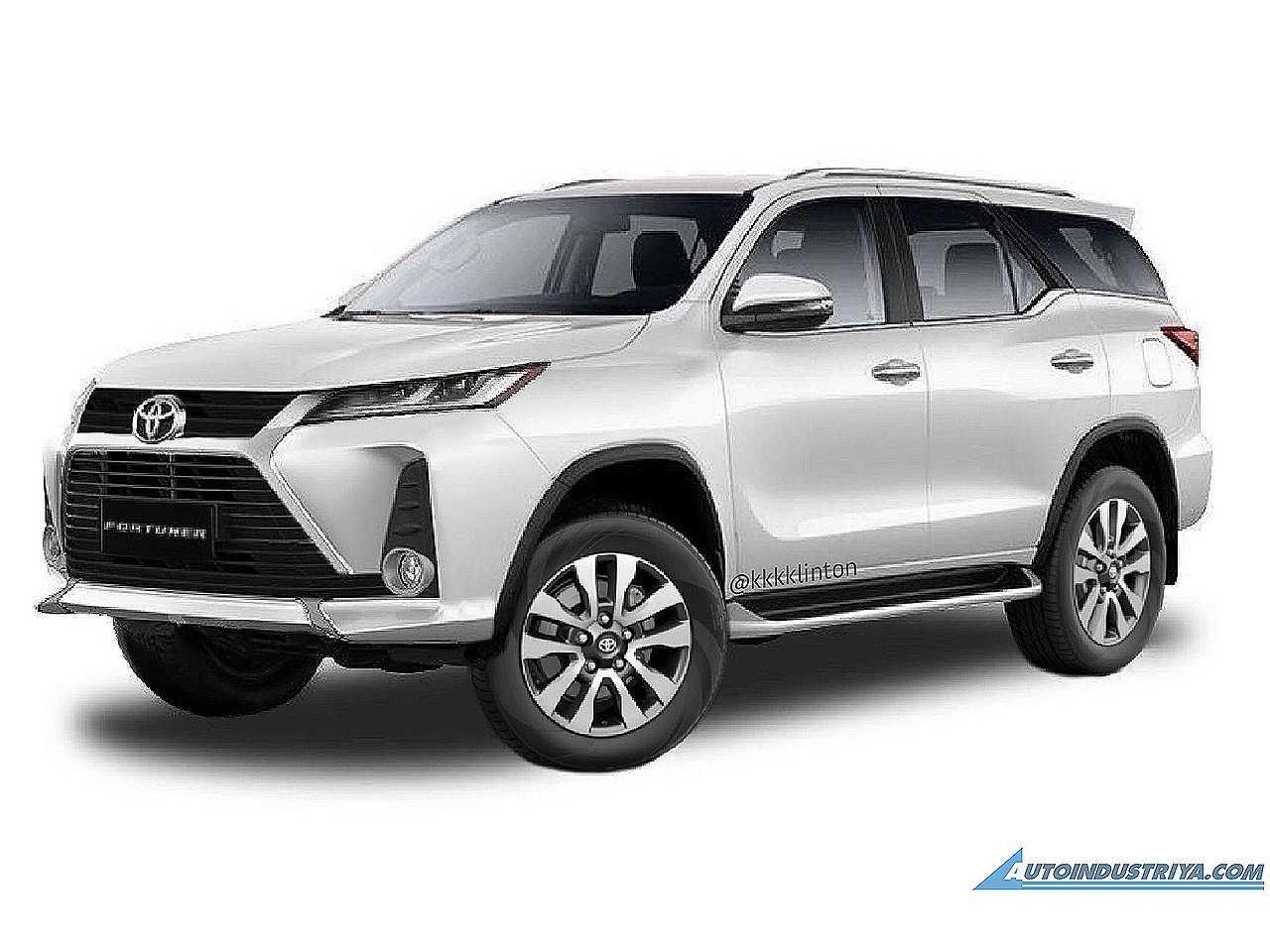 Projeção antecipando o facelift do Toyota SW4