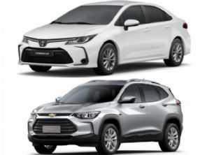 Toyota Corolla GLi ou um Chevrolet Tracker LTZ, ambos modelo 2021?