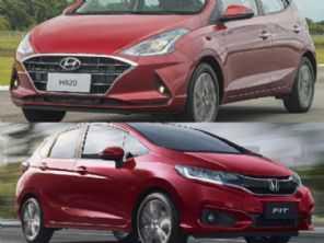 Honda Fit LX ou um novo Hyundai HB20 1.0 turbo?