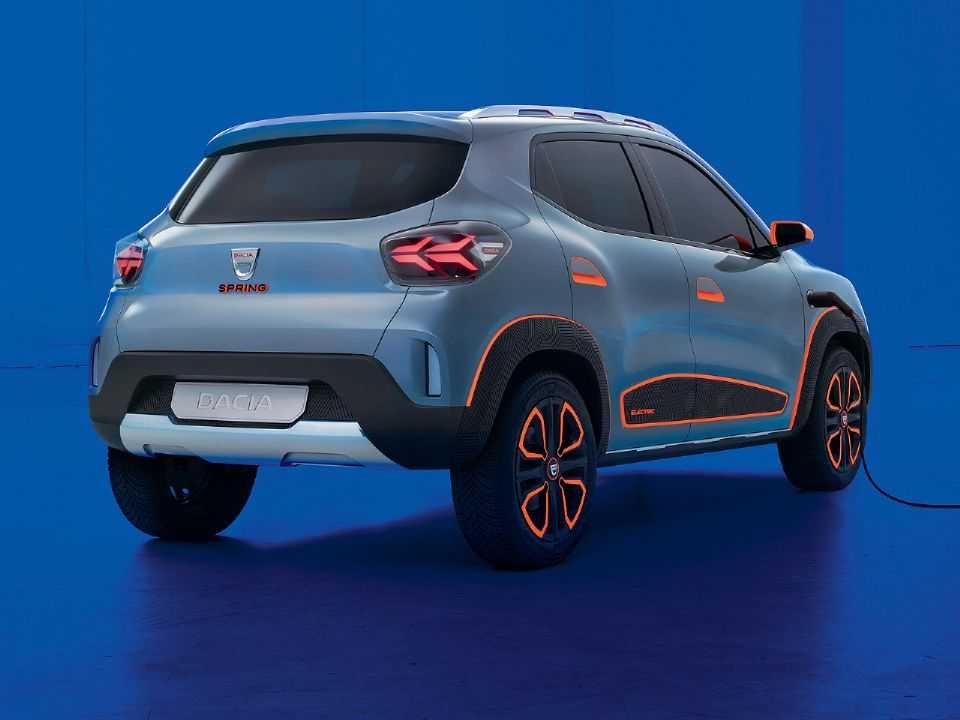 Acima o conceito Dacia Spring