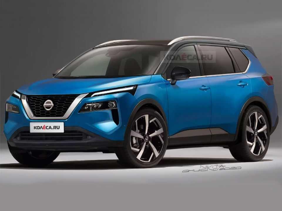 Projeção do site russo Kolesa para a nova geração do Nissan X-Trail