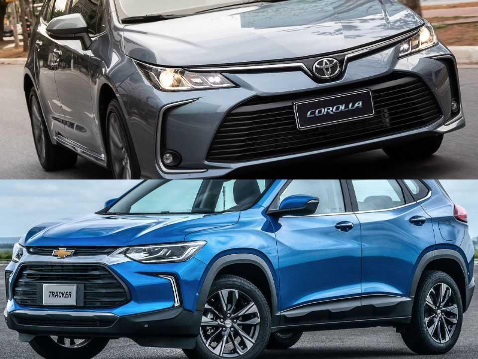 Toyota Corolla e Chevrolet Tracker