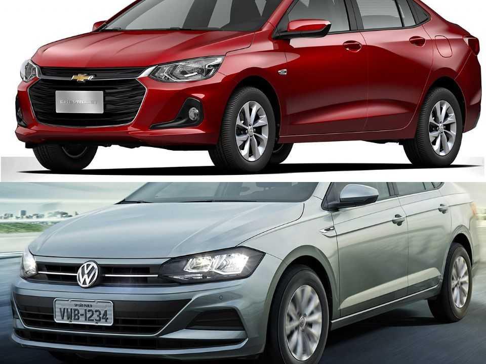 Chevrolet Onix Plus e Volkswagen Virtus