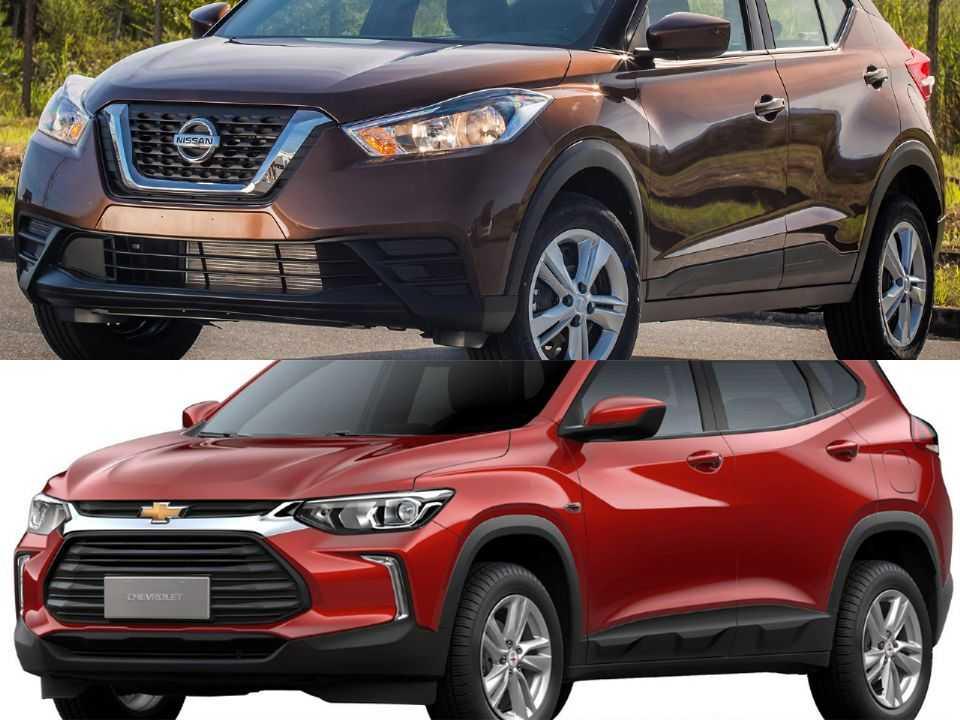 Nissan Kicks e Chevrolet Tracker