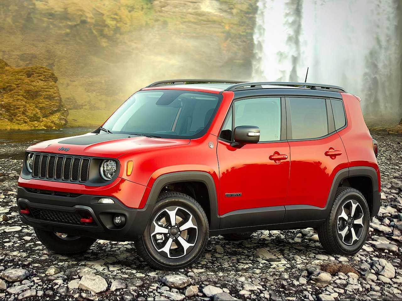 Acima o Jeep Renegade Trailhawk 2020 vendido nos EUA