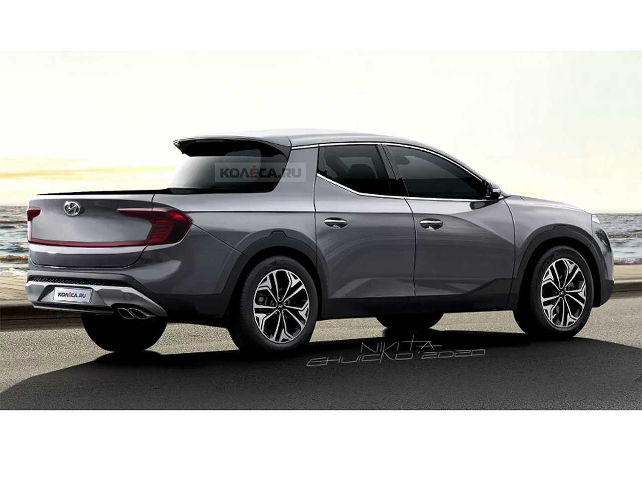 Projeção antecipa a Hyundai Santa Cruz