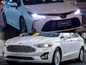 Híbridos: optar por um Fusion Hybrid 2018 ou um Corolla Altis Hybrid novo?
