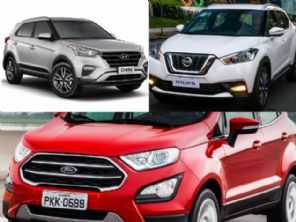 SUVs seminovos: Ford EcoSport FreeStyle, Hyundai Creta Pulse ou um Nissan Kicks SV?