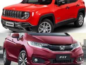 Um Honda Fit EXL ou um Jeep Renegade Sport?