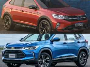 SUVs na faixa de R$ 100 mil: optar por um Chevrolet Tracker LTZ ou um VW Nivus Highline?