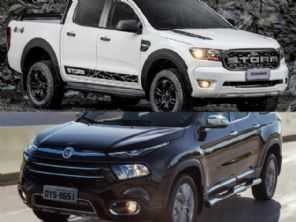 Picape para uma viagem longa: Fiat Toro Ranch ou uma Ford Ranger Storm?