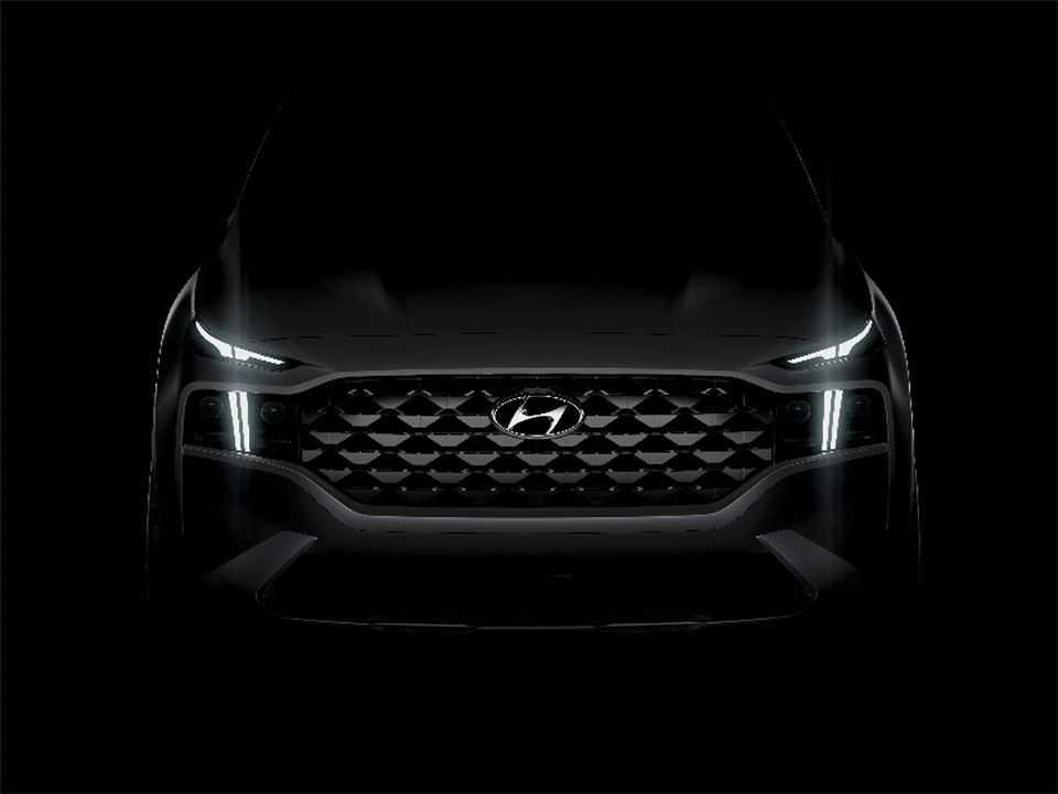 Teaser da nova geração do Hyundai Santa Fe