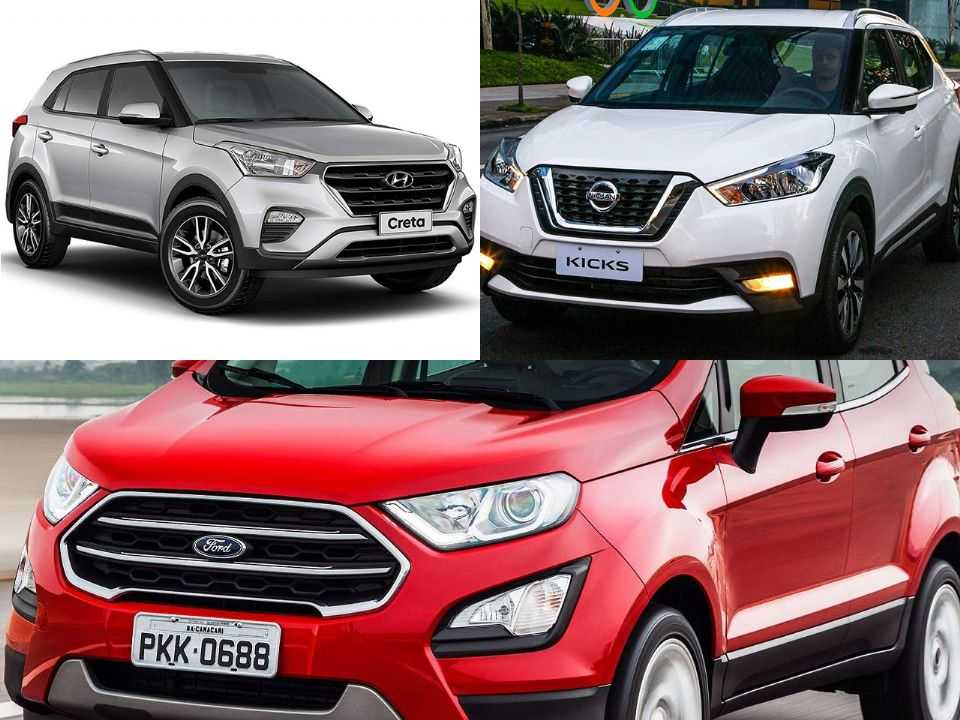 Hyundai Creta, Nissan Kicks e Ford EcoSport