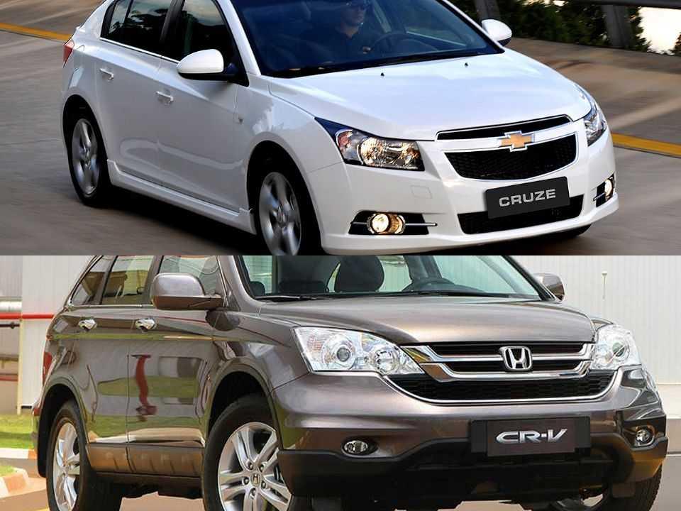 Chevrolet Cruze Sport6 e Honda CR-V