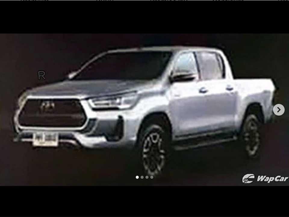 Imagem vazada antecipando a Toyota Hilux 2021