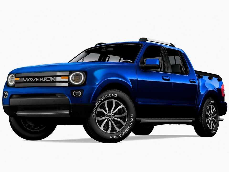 Projeção da inédita picape compacta-média da Ford adotando o nome Maverick