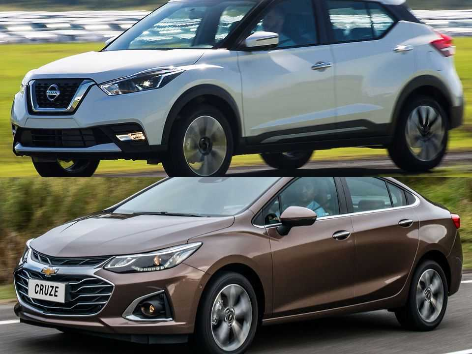Nissan Kicks e Chevrolet Cruze
