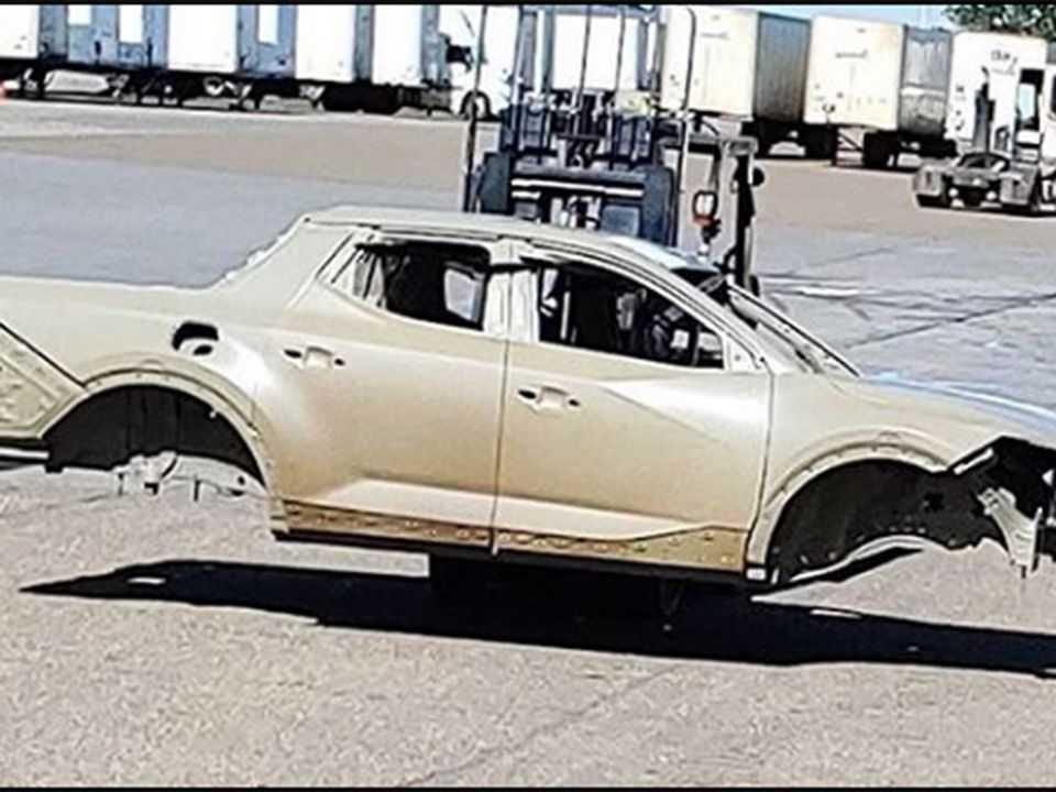 Detalhe da carroceria da futura Hyundai Santa Cruz