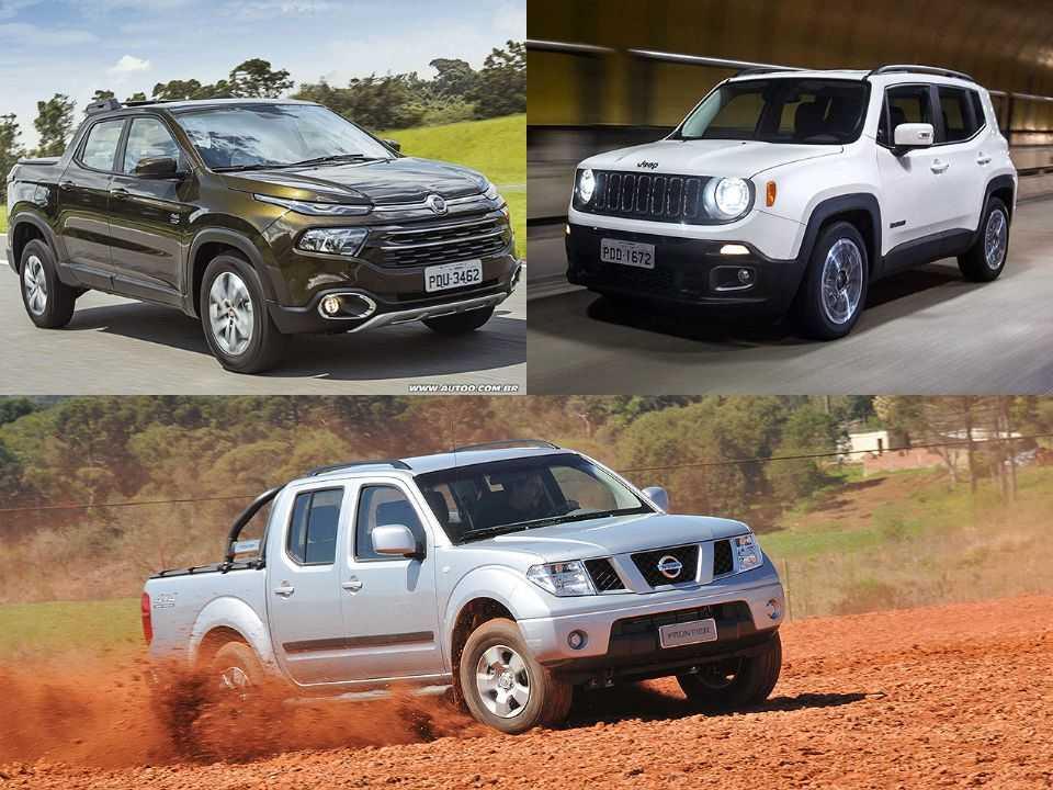 Fiat Toro, Jeep Renegade e Nissan Frontier