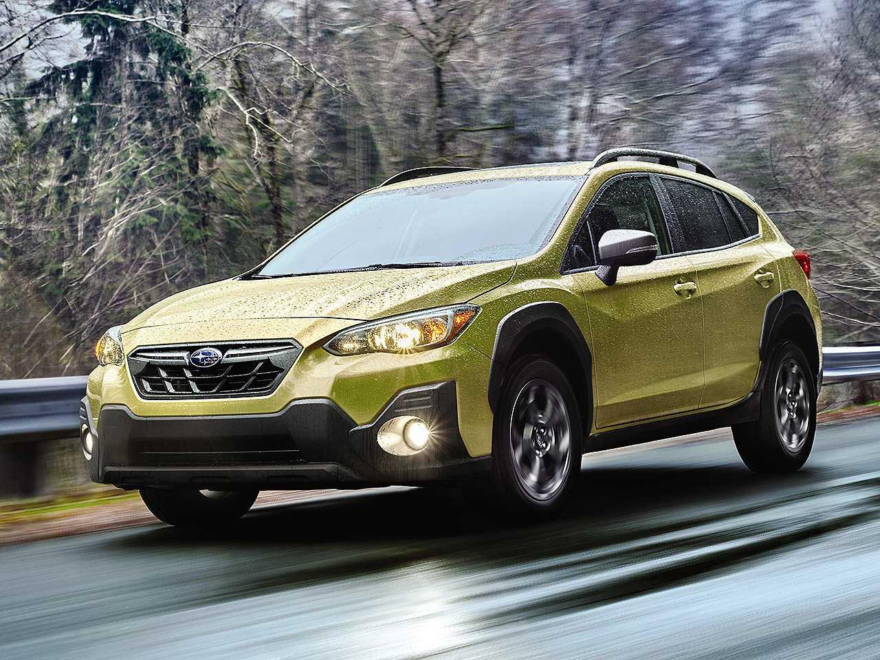 Acima o Subaru Crosstrek 2021 vendido nos EUA