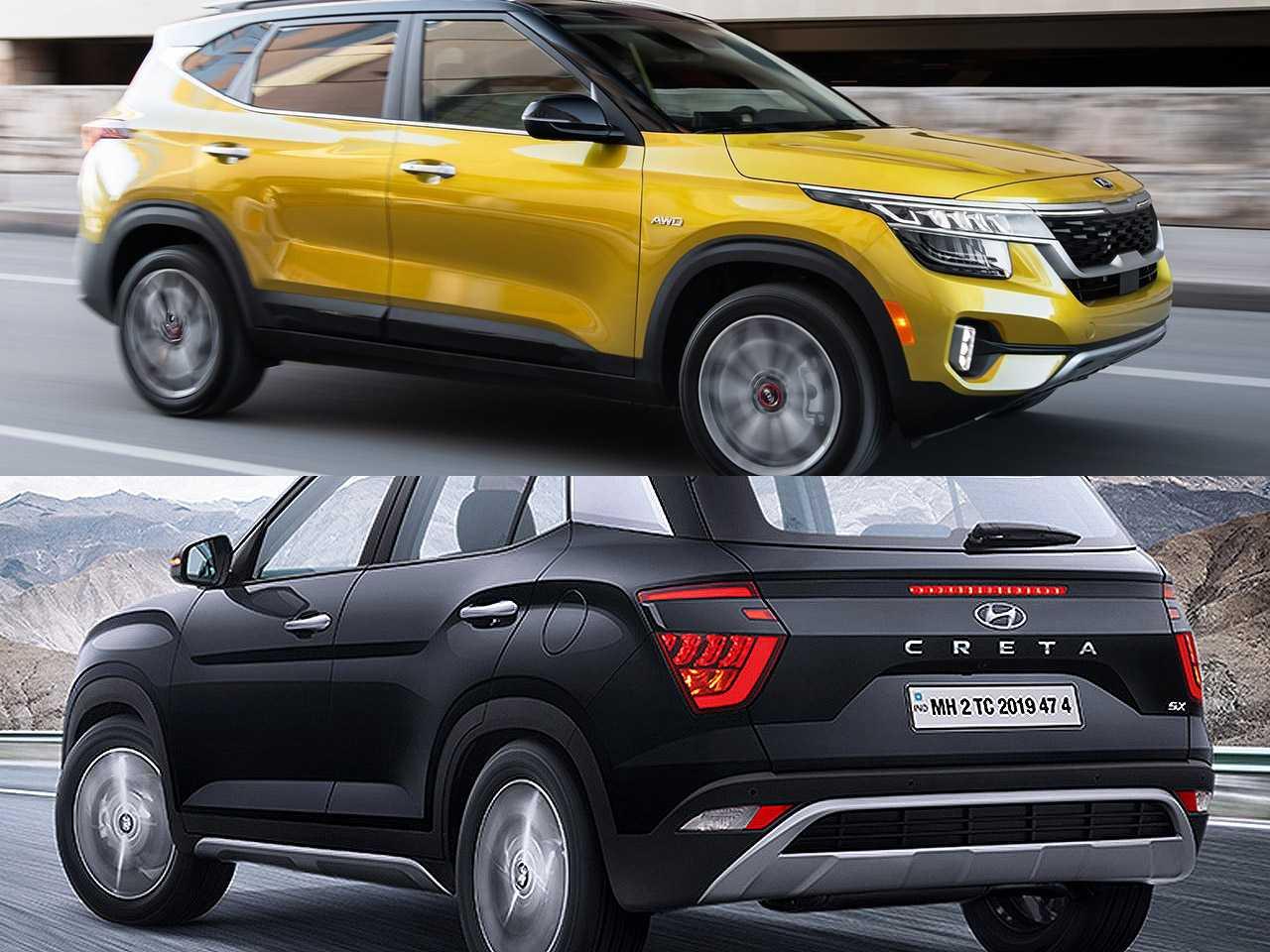 Kia Seltos 2021 e a nova geração do Hyundai Creta