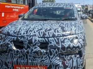 Inédito Renault Kiger, SUV pequeno derivado do Kwid, é flagrado na Índia