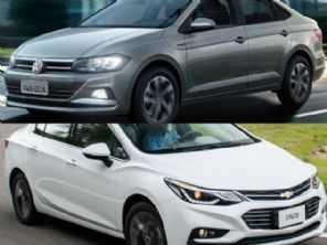 Um Chevrolet Cruze LTZ 2017 ou um VW Virtus Comfortline 2018?