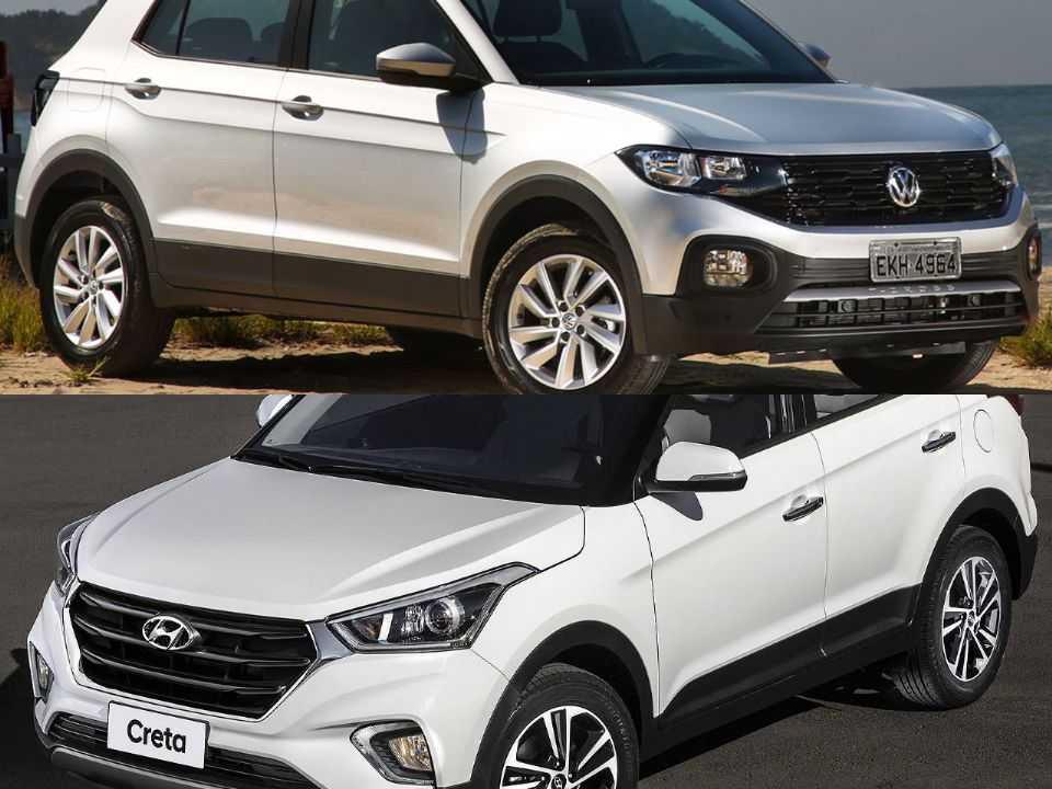 Volkswagen T-Cross e Hyundai Creta
