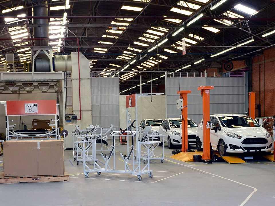 Fábrica da Ford em São Bernardo do Campo (SP) ainda operando com a produção do Fiesta